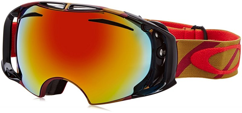 Oakley Airbrake Skibrille, Hazard Bar Burnt Red/Fire Iridium/Persimmon