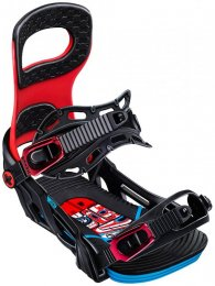 BENT METAL Joint  Snowboardbindung black/red L (44.5-48.5)
