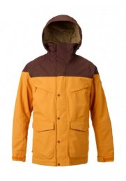 Burton Mens Snow Jacket Breach Golden Rod/Trocadero