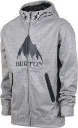 Burton Mens Snow Jacket Hoodie Bounded FZ Heather
