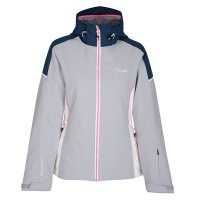 DARE2b Womens Contrive Ski Jacket Silver Flash Blue Wing
