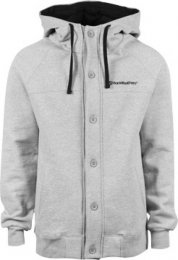 Horsefeathers Hoody/ Jacket mit Knöpfen Gecko heather gray