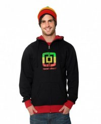 Horsefeathers Hoody/ Jacket mit Zipper Striper black