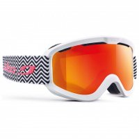 Julbo Skibrille | Goggle June white double lens S3 orange...