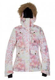 PIPCURL Womens Snow Jacked Chic Printed white