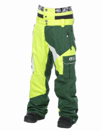 Picture Mens Snow Pant STYLER neonyellow/ green/white