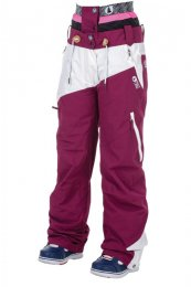 Picture Womens Snow Pant WEEKEND burgundy/white