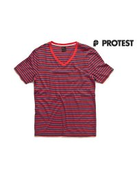 Protest Mens T-Shirt Chop Coral Red