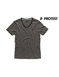 Protest Mens T-Shirt Chop True Black