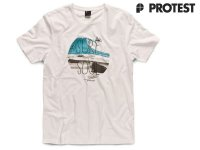 Protest Mens T-Shirt Snail Basic white