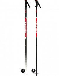 Rossignol Skistöcke Tactic black/red