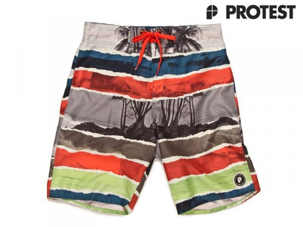 Protest Boardshort Swim Short Wind Coral Red